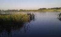 Poniedzia�kowy �wit nad jeziorem Bart��ek