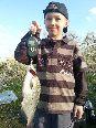 rzeka narew na wysoko�ci Wieliszew na grunt trzy bia�e robaki zan�ta w�asnej roboty waga 700 gram 42cm data 17 04 2014